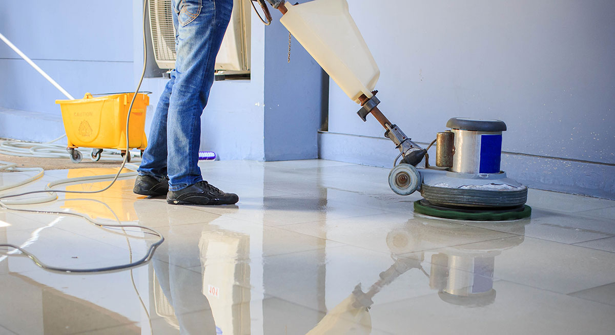 Floor Buffing Shine Bright Cleaners Myrtle Beach SC - Buffing ceramic tile floors